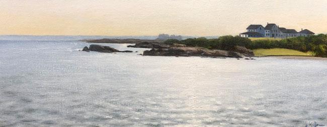 JOSEPH KEIFFER  Newport, Rhode Island  (2007)  Oil on canvas 8 x 20 inches (20.3 x 50.8 cm)  SOLD