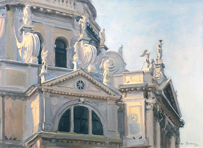 JULIAN BARROW  Saints on the Salute, Venice     Oil on canvas 12 x 16 inches (30.5 x 40.6 cm) $7,500 Click here for more information