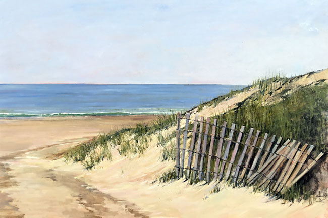 EMILY BUCHANAN  Georgica Beach, East Hampton     Oil on panel 24 x 36 inches (61 x 91.4 cm) $10,000 Click here for more information