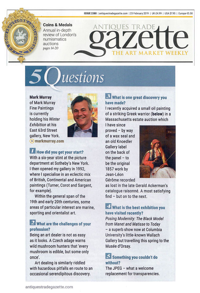 Mark Murray in Antiques Trade Gazette