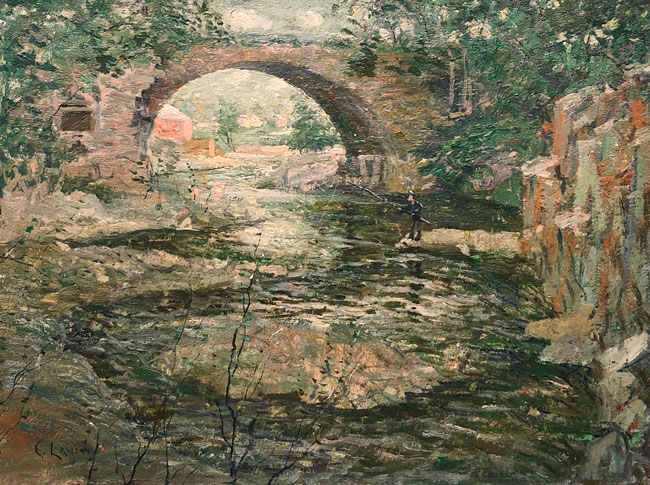 ERNEST LAWSON    Old Stone Bridge   Oil on canvas 18 x 24 inches (45.7 x 61 cm) $48,000 Click here for more information