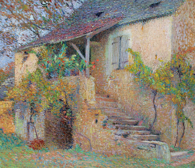 HENRI MARTIN  La Maison Fleurie, Labastide-du-Vert   Oil on canvas 29½ x 33½ inches (74.6 x 85.4 cm) P.O.R. Click here for more information