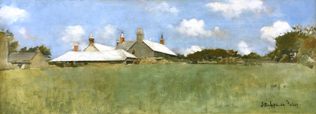STANHOPE ALEXANDER FORBES    A Farm in Summer   Oil on canvas 9 x 24 inches (23 x 61 cm) $12,500 Click here for more information