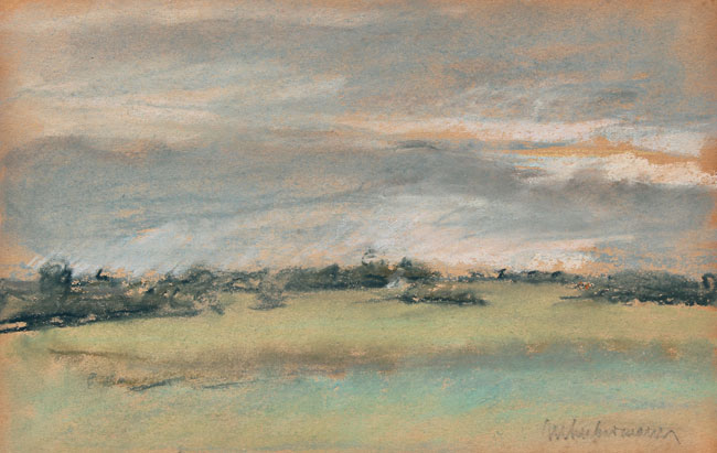MAX LIEBERMANN  Landscape Study   Pastel on paper laid down on board 6¼ x 9¼ inches (15.5 x 23.5 cm) $12,500 Click here for more information