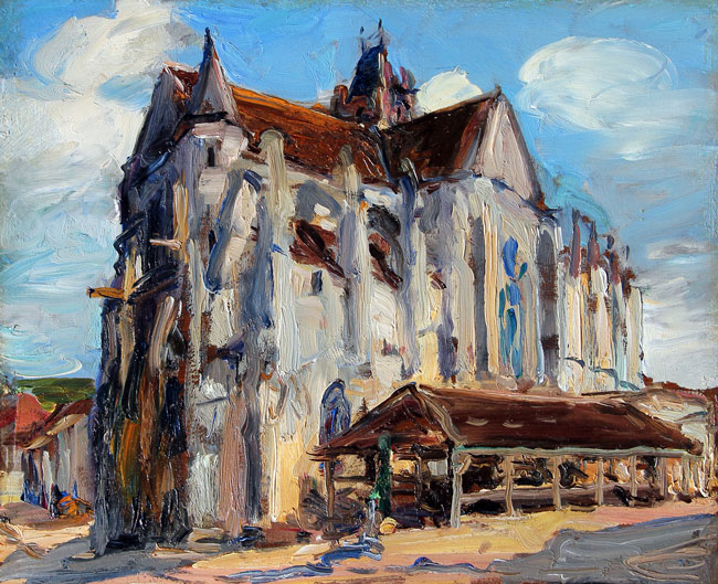 ALEXANDER JAMIESON    Church at Moret-Sur-Loing   Oil on panel 9¾ x 12 inches (25 x 30.5 cm) $6,500 Click here for more information