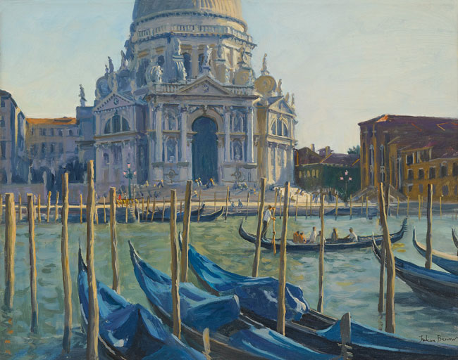 JULIAN BARROW    Santa Maria Della Salute, Venice   Oil on canvas 14 x 18 inches (35.6 x 45.7 cm) $11,000 Click here for more information