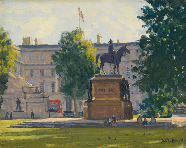 JULIAN BARROW  Hyde Park Corner, London   Oil on canvas 8 x 10 inches (20.3 x 25.4 cm) $4,500 Click here for more information