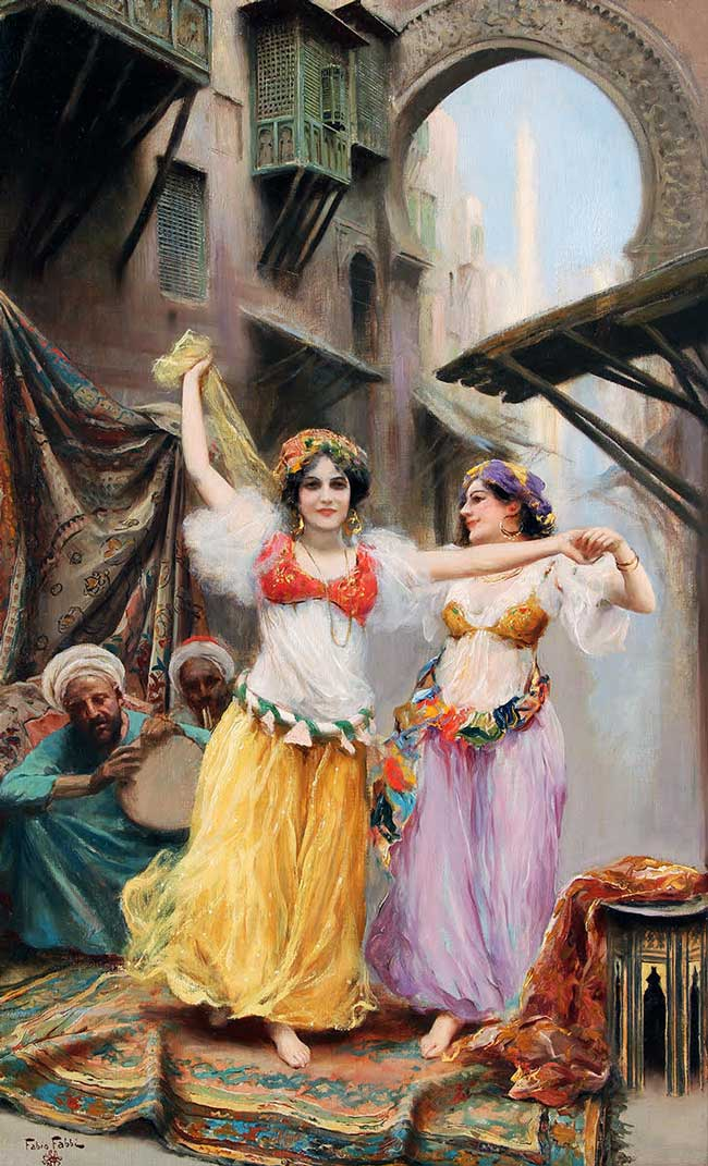 FABIO FABBI  Two Dancers   Oil on canvas 29½ x 18 inches (75 x 46 cm)  SOLD