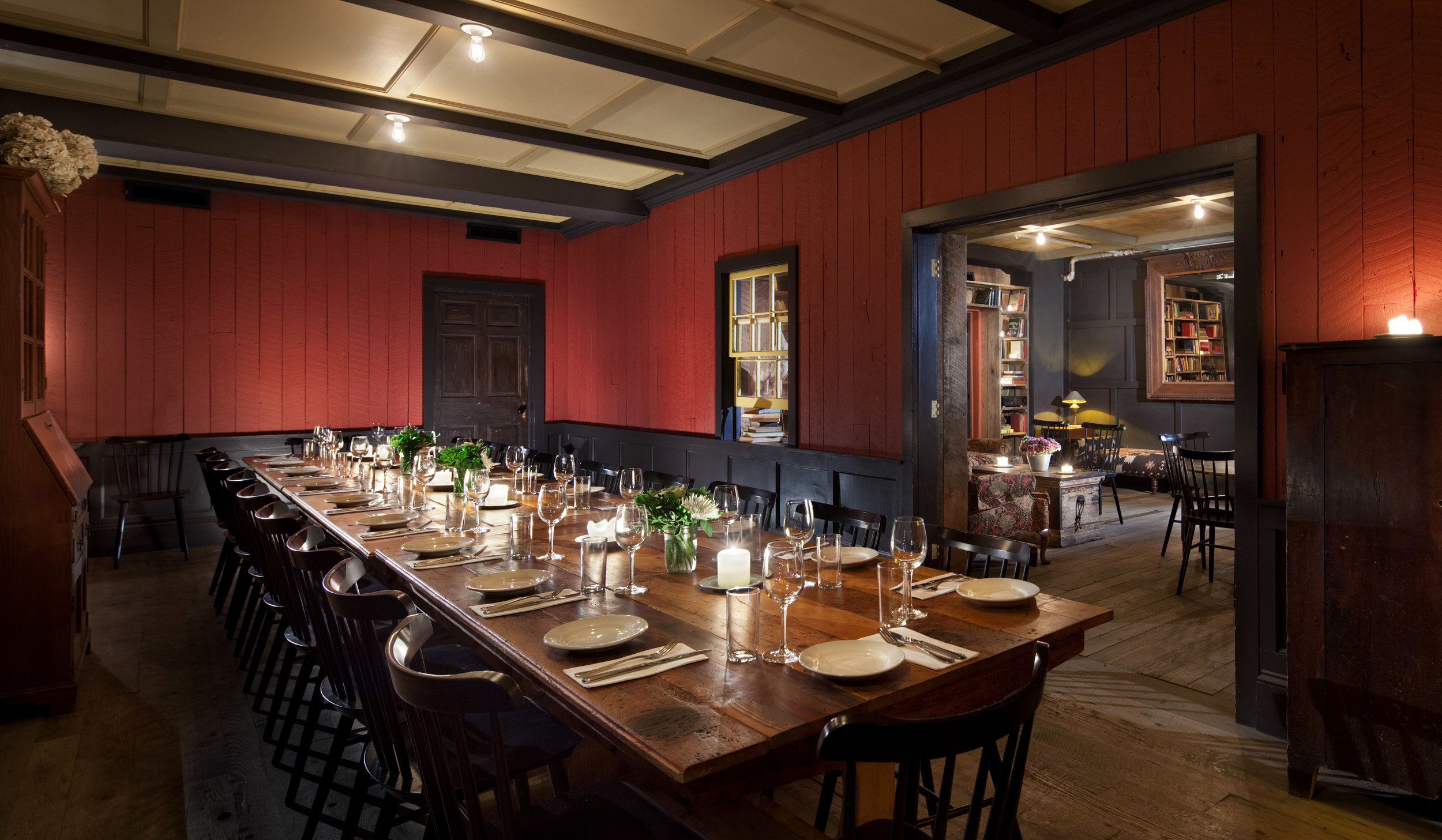 Red Private Dining Room    Photo Download