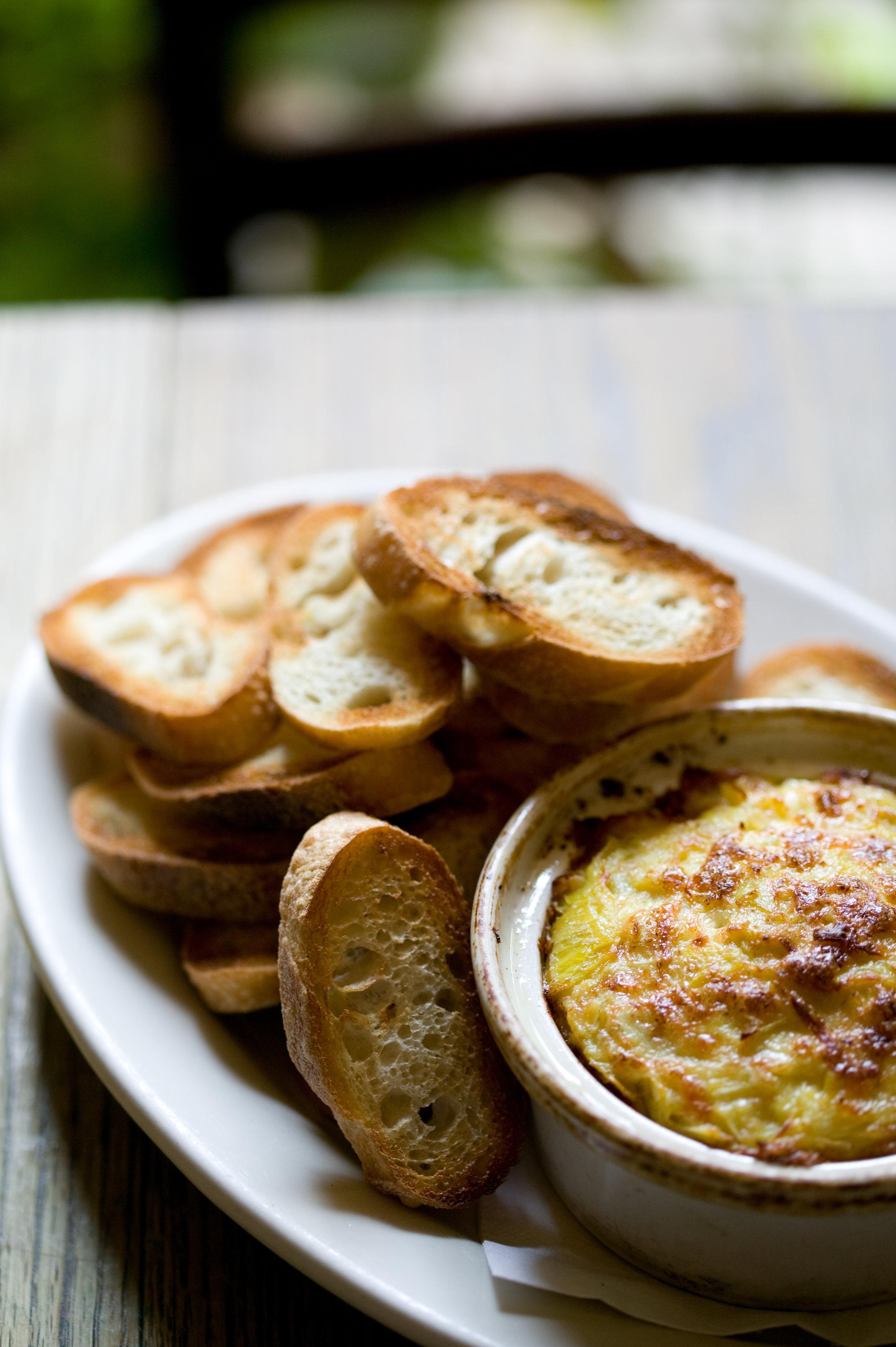 Artichoke Dip with Crisp Bread     Photo Download