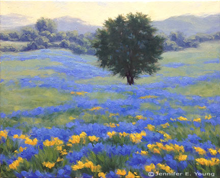 "Morning Meadow II Oil on linen, 16x20"" (SOLD) ©Jennifer Young"