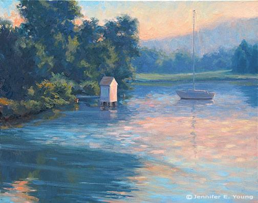 """""""Illuminated"""" Oil on Linen, 24x30""""  Jennifer Young"""