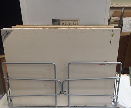 Wet panel storage