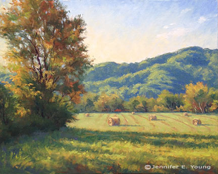 """""""Shadows of the Blue Ridge"""" Oil on Linen, 24x30"""" (SOLD) ©Jennifer Young"""