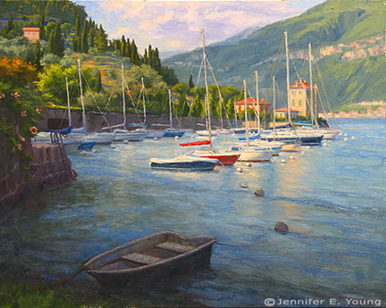 """""""Pescallo Glow"""" Oil on Linen, 24x30"""" (SOLD) ©Jennifer Young"""