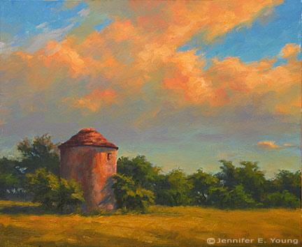""" Ciel Dore"" (Gilded Sky) Oil on Linen, 20x24"" (SOLD) Jennifer Young"