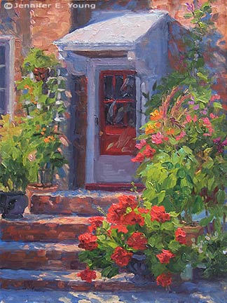 """""""The Cook's Garden"""" Oil on Linen, 16x12"""" ©Jennifer Young"""