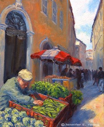 """""""Legumes du Jour"""" Oil on Linen, 20x16"""" (SOLD) ©Jennifer Young"""