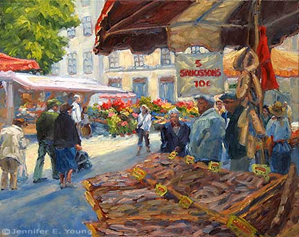 """Market Price"" Oil on linen, 16x20"" (SOLD) ©Jennifer Young"