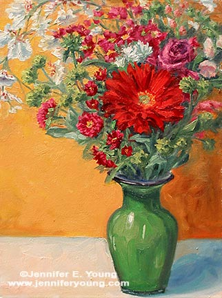 """""""Spring Mix"""" Oil on Canvas, 16x12"""" ©Jennifer Young"""