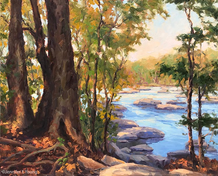 """Take Me to the River"", Oil on linen, 24x30: ©Jennifer E Young"