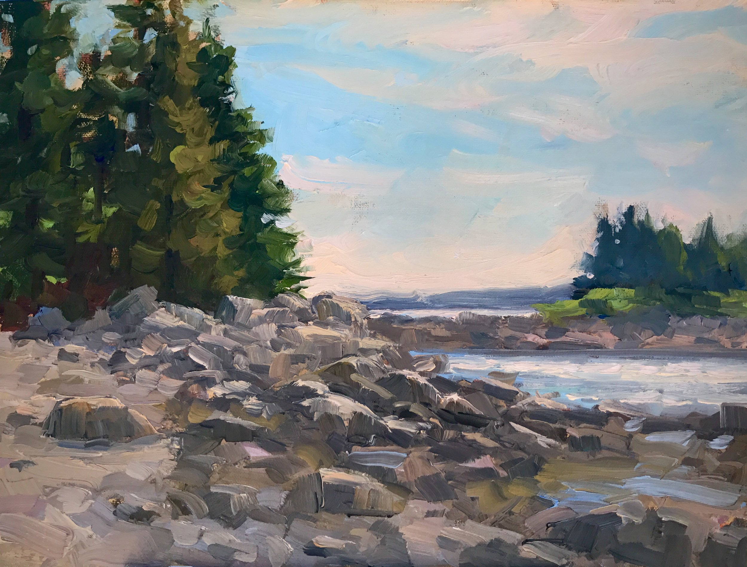 Lane's Island Study, Oil on linen, 9x12""
