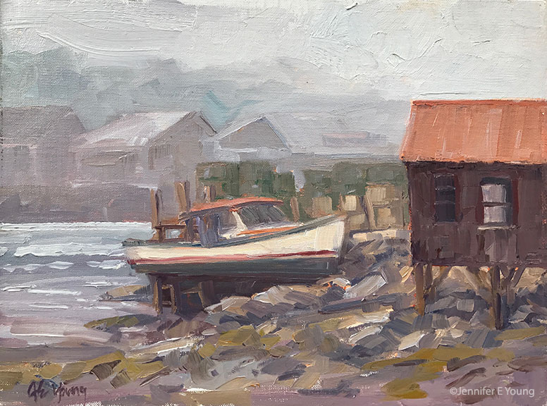 """Docked at Low Tide"""