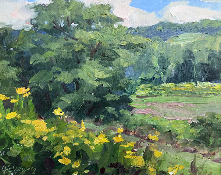 """Goldenrod Hillside"""