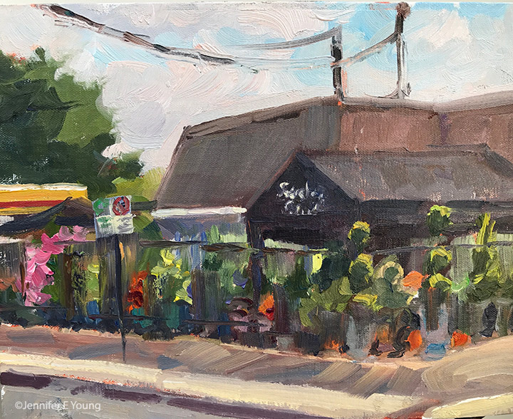 """Corner Color"", Oil on linen, 8x10"""