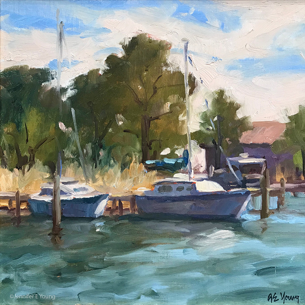 """Ready for Summer"", Oil on linen, 12x12"""