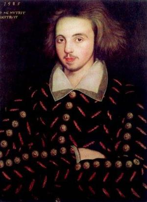 Happy Birthday, poet-dramatist, Christopher Marlowe.Baptized Feb, 26, 1564 Canterbury-Died May 30, 1593.