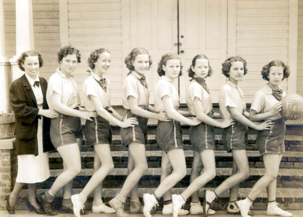 Pierce Junior High School girl's basketball team, 1938. Tampa, Florida.