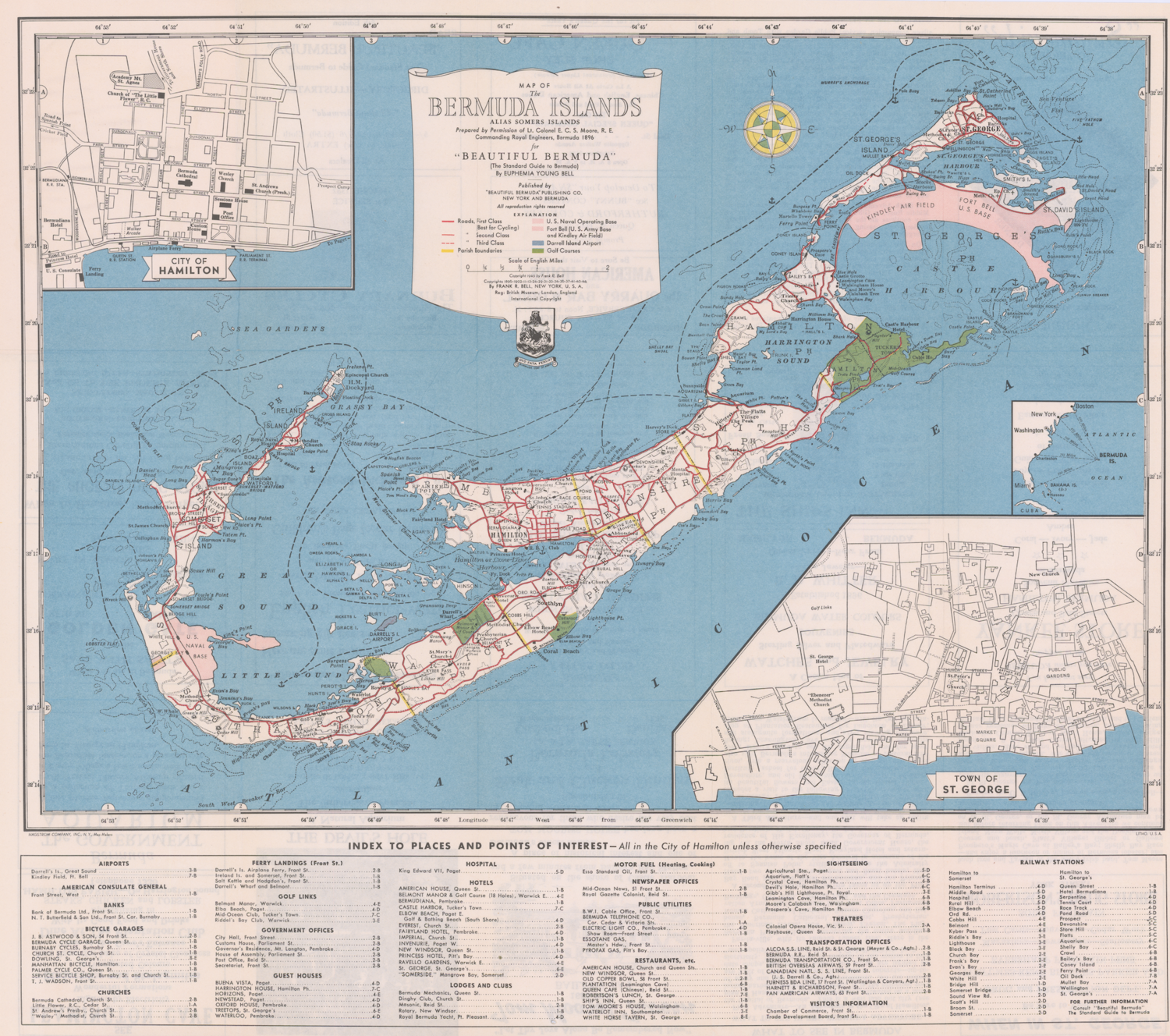 1945 Map of Bermuda Islands Alias Somers Islands Prepared by ...