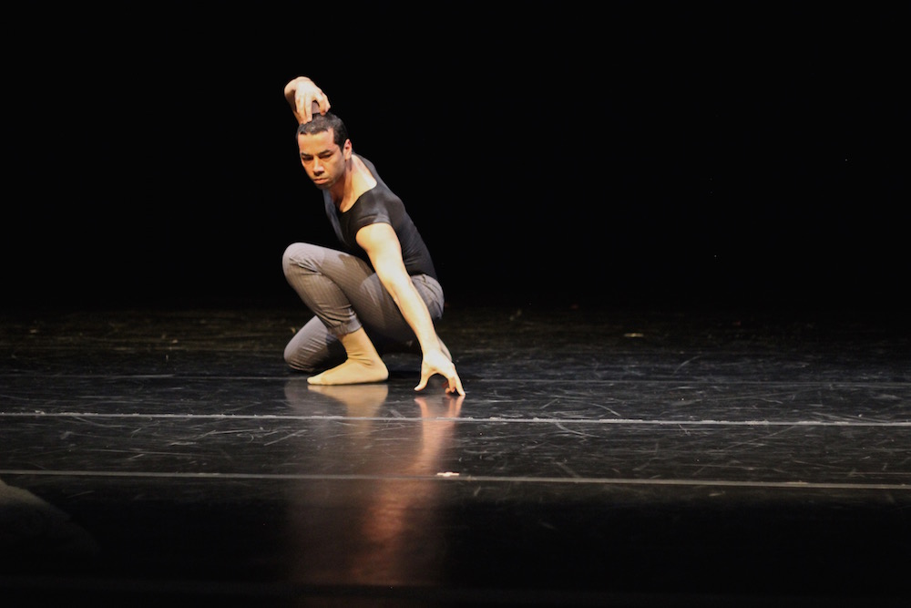 Darion Smith on stage in Cavity. Photo by Emma Frank