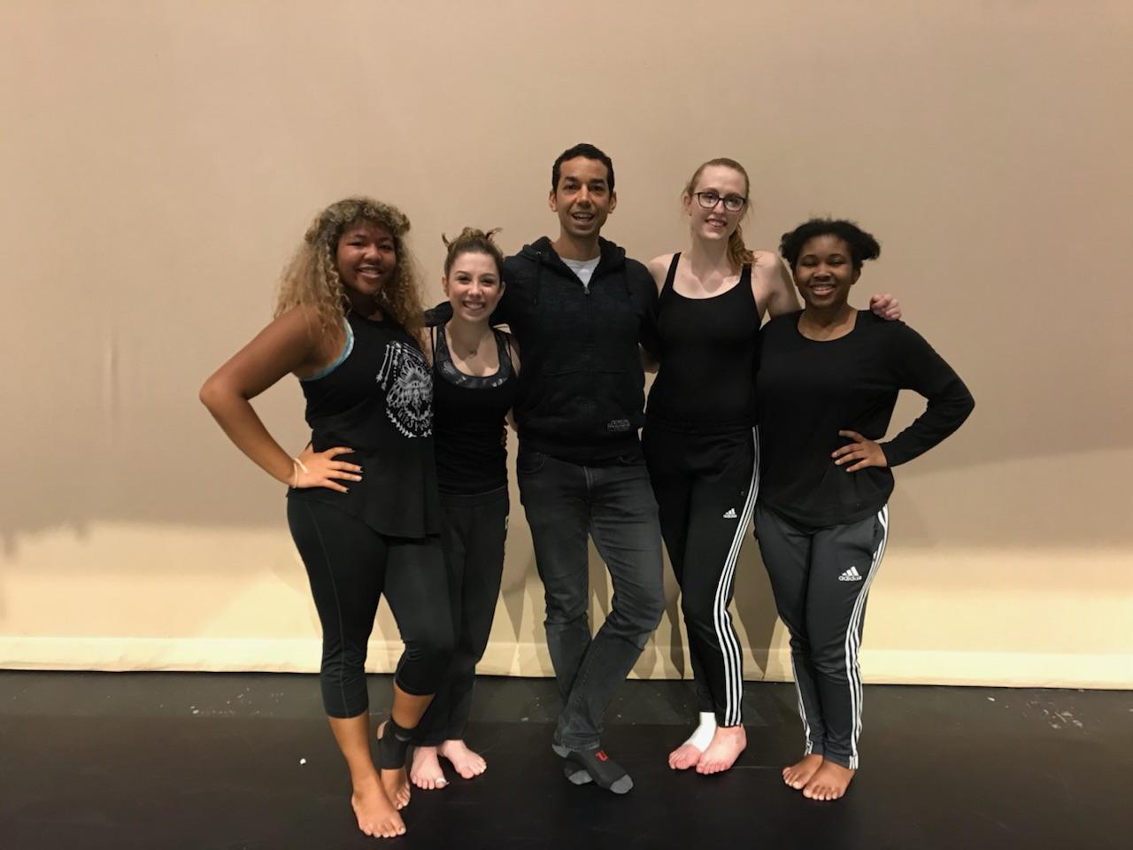 Guest choreographer in residence Darion Smith with PLU dance students.jpg