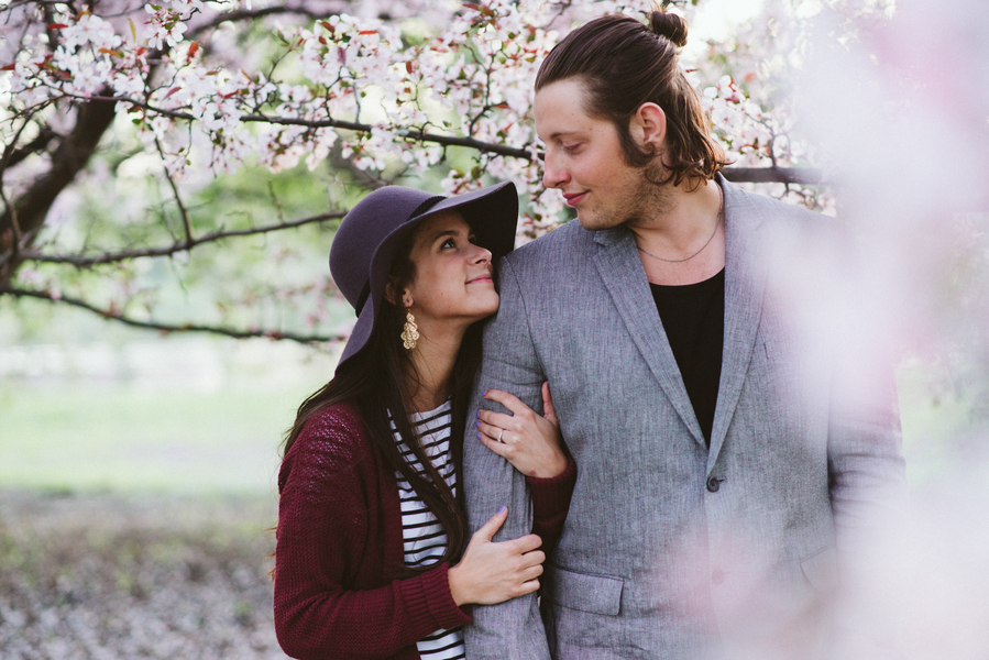 Cherry Blossom Engagement Session | Indigo Lace Collective | Joy Wed