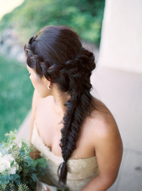 Spanish Wedding Inspiration | Ranch Guajome Adobe Wedding | Nicole Colwell Photography | Joy Wed | Organic Wedding | Wedding Hair | Wedding Braid | Braided Wedding Hair