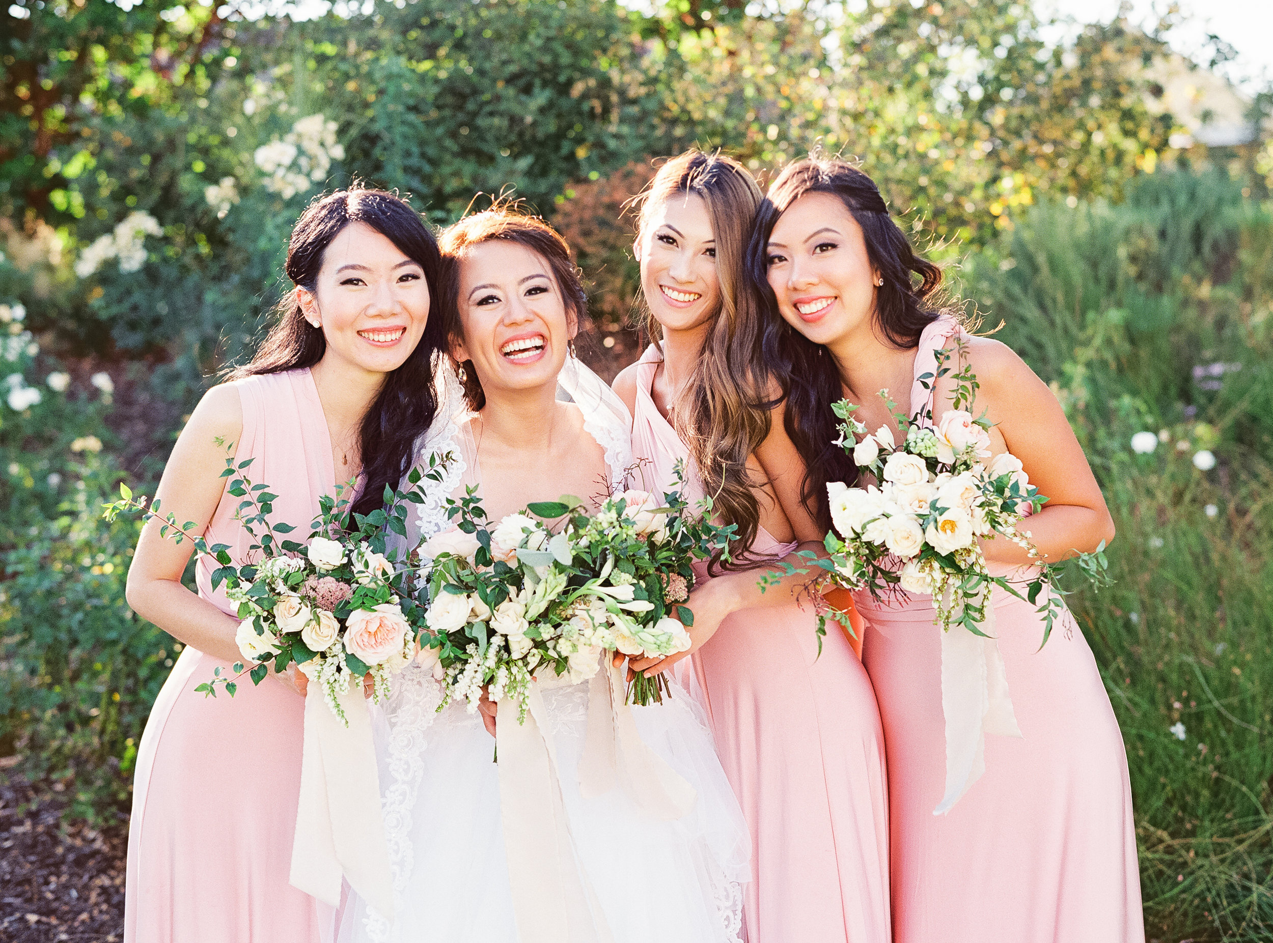 Napa Valley Wedding | Michele Beckwith | Chinese Wedding | Vineyard Wedding | Fine Art Wedding Blog | Joy Wed | Canadian Wedding Blog | Blush Bridesmaid Dress | Organic Wedding Bouquet