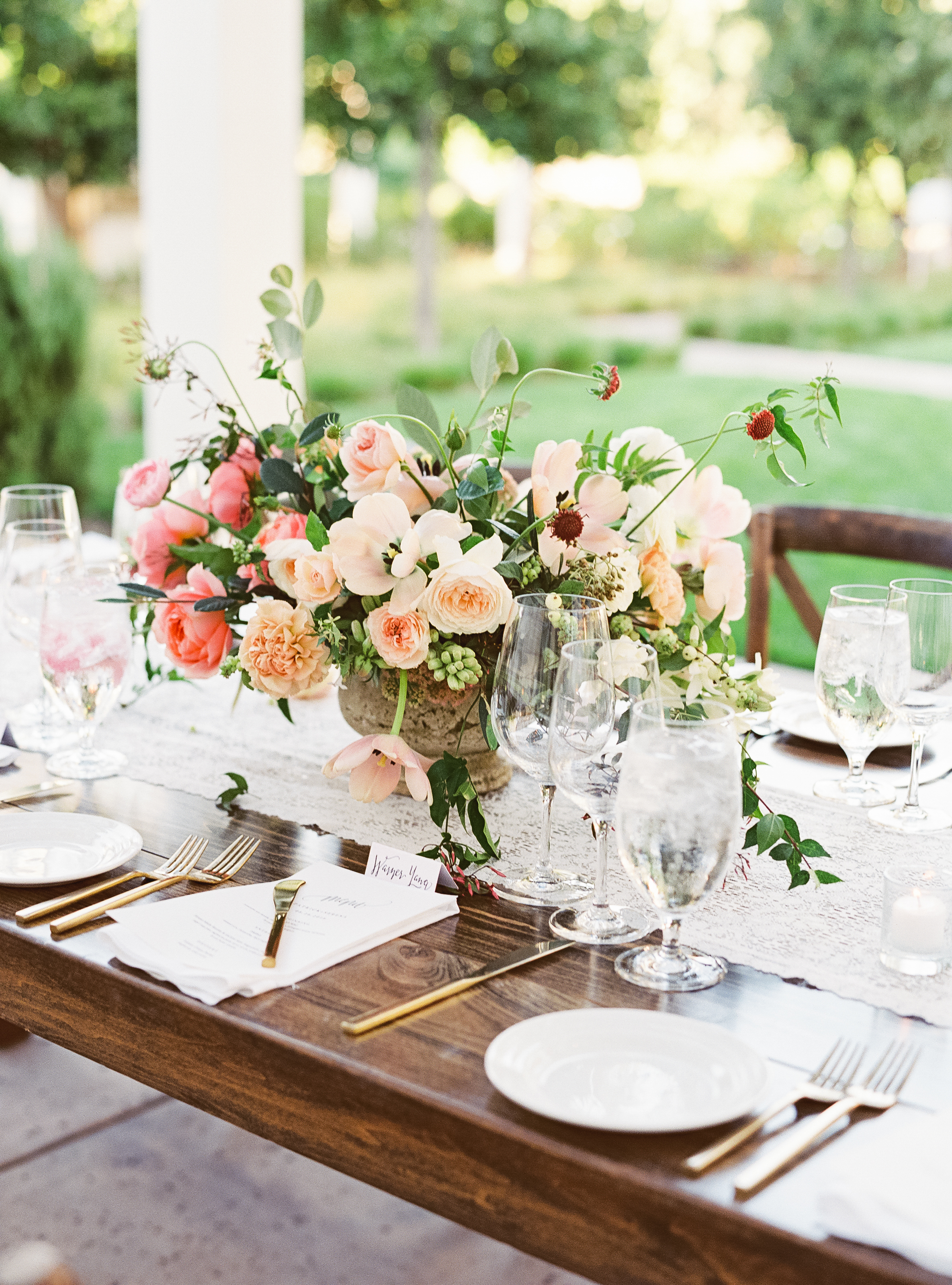 Napa Valley Wedding | Michele Beckwith | Chinese Wedding | Vineyard Wedding | Fine Art Wedding Blog | Joy Wed | Peach Wedding | Blush Wedding | Organic Wedding Centerpiece | Organic Wedding