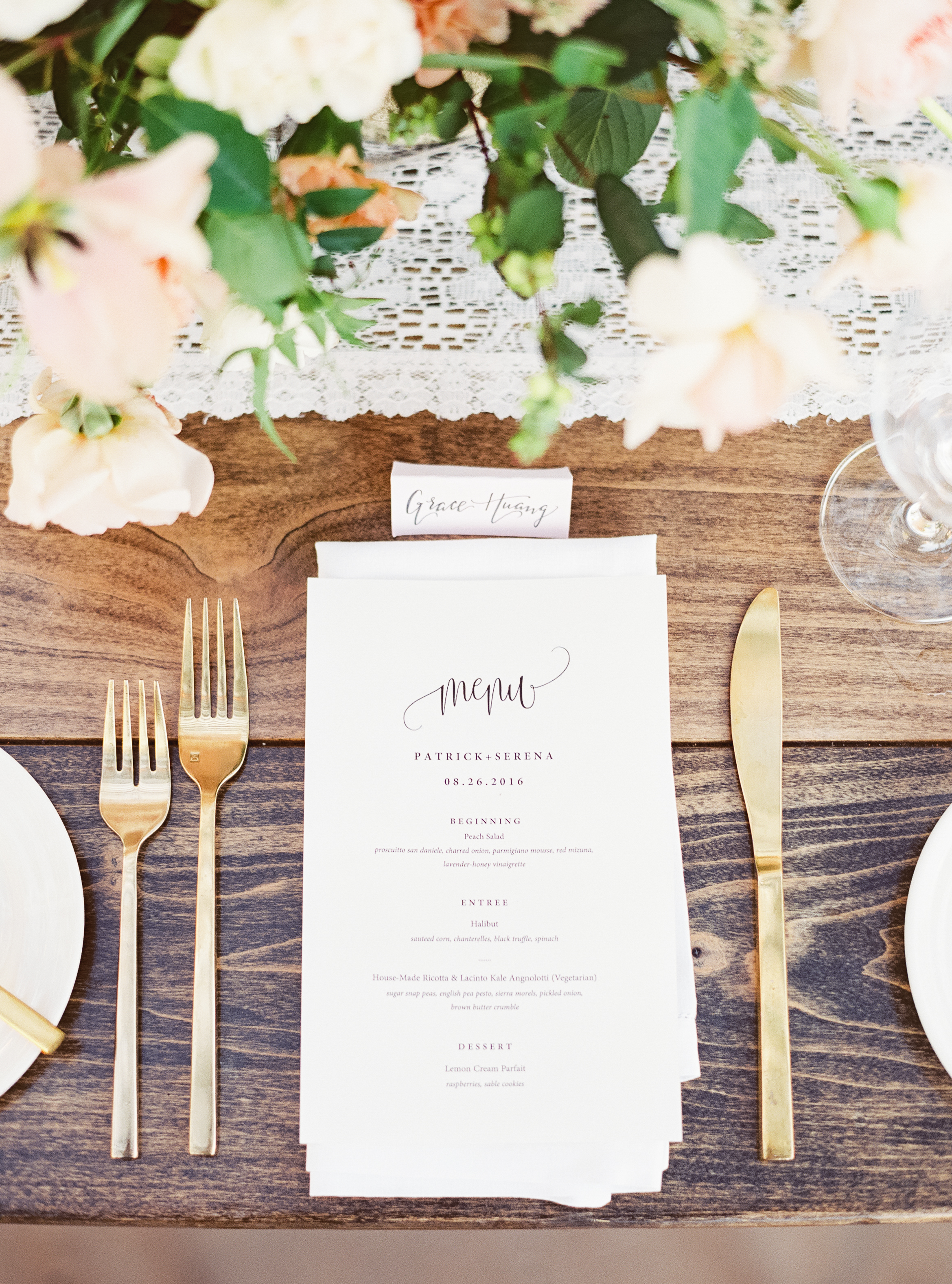 Napa Valley Wedding | Michele Beckwith | Chinese Wedding | Vineyard Wedding | Fine Art Wedding Blog | Joy Wed | Canadian Wedding Blog | Wedding Menu | Wedding Calligraphy