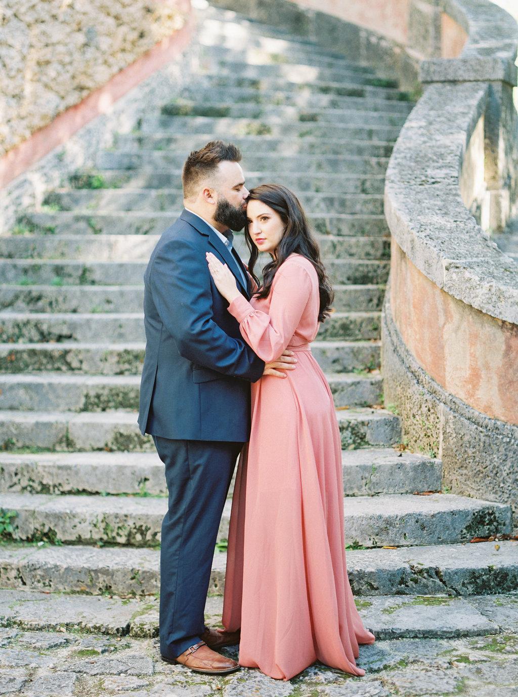 Vizcaya Museum Engagement | Museum Wedding Inspiration | Amanda Berube | Portland Wedding Photographer | Fine Art Wedding Blog | Joy Wed | LuLu's | Blush Dress | Blush LuLu Dress
