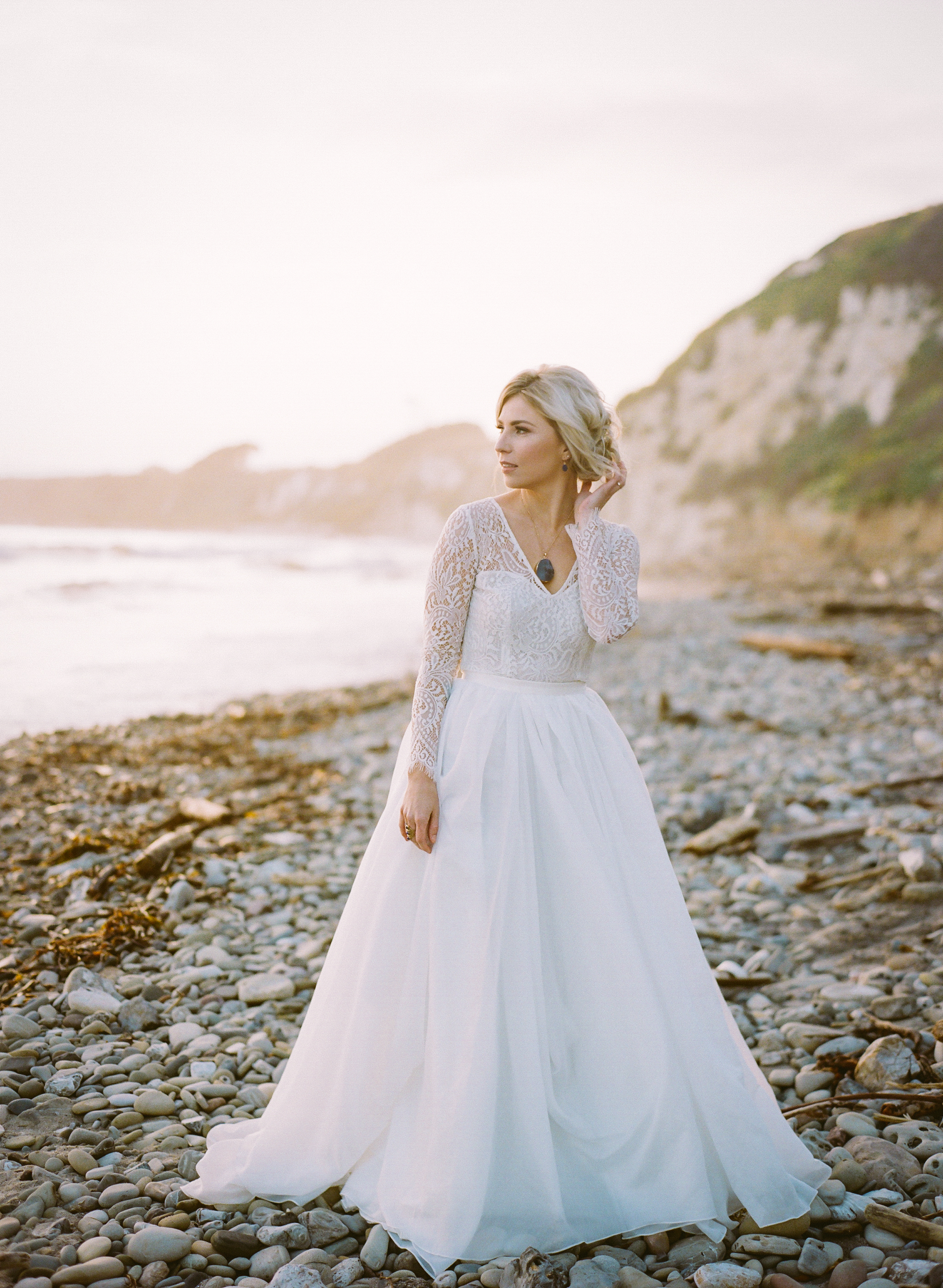 Ellwood Bluffs Bridal Session | California Photographer | Wedding Inspiration | Taken by Sarah | Burgundy Bridal Bouquet | Ethereal Bride | Joy Wed | Fine Art Wedding Blog