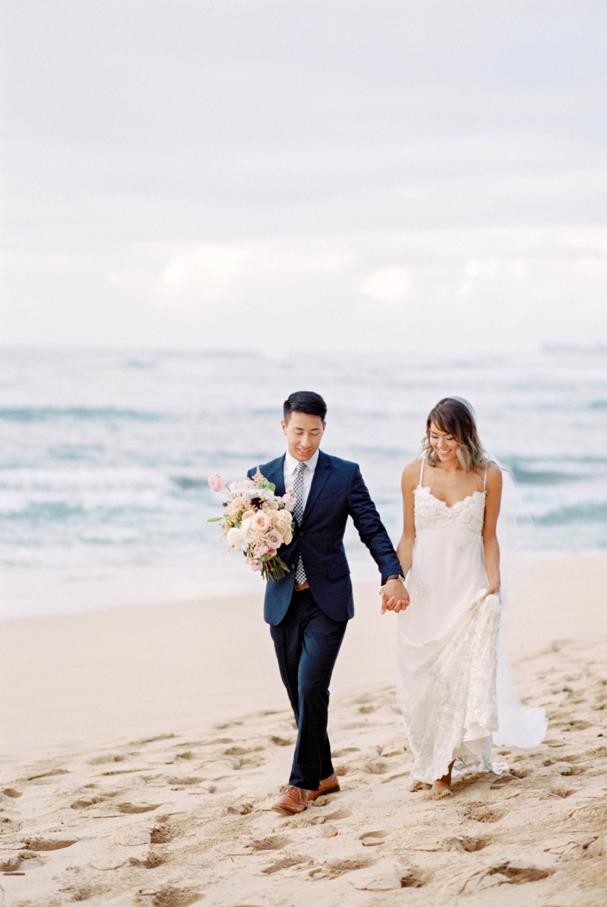 Sunset Hawaiian Elopement | Hawaiian Elopement | O'ahu Elopement | Beach Elopement | Kerry Jeanne Photography | Joy Wed | Fine Art Photography | Fine Art Blog | Canadian Wedding Blog