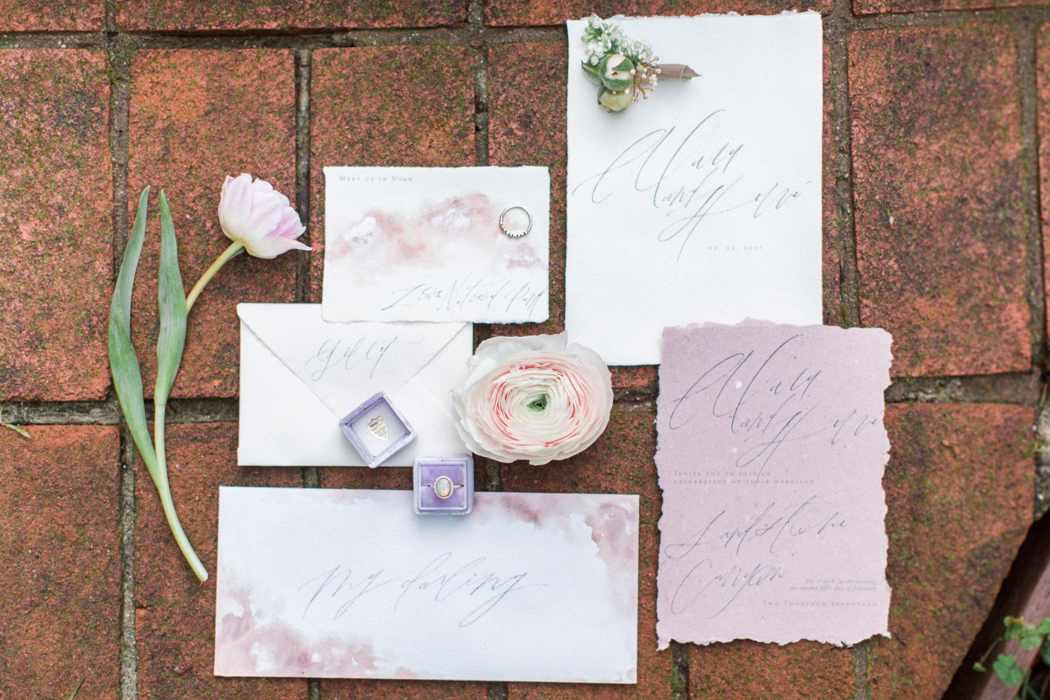 Cliffside Wedding | Tyler Rye Workshop | Point Reyes | Nicole Lapierre | Canadian Wedding Blog | Canadian Photographer | Joy Wed | Fine Art Wedding Blog | Pink and Purple Wedding Stationery