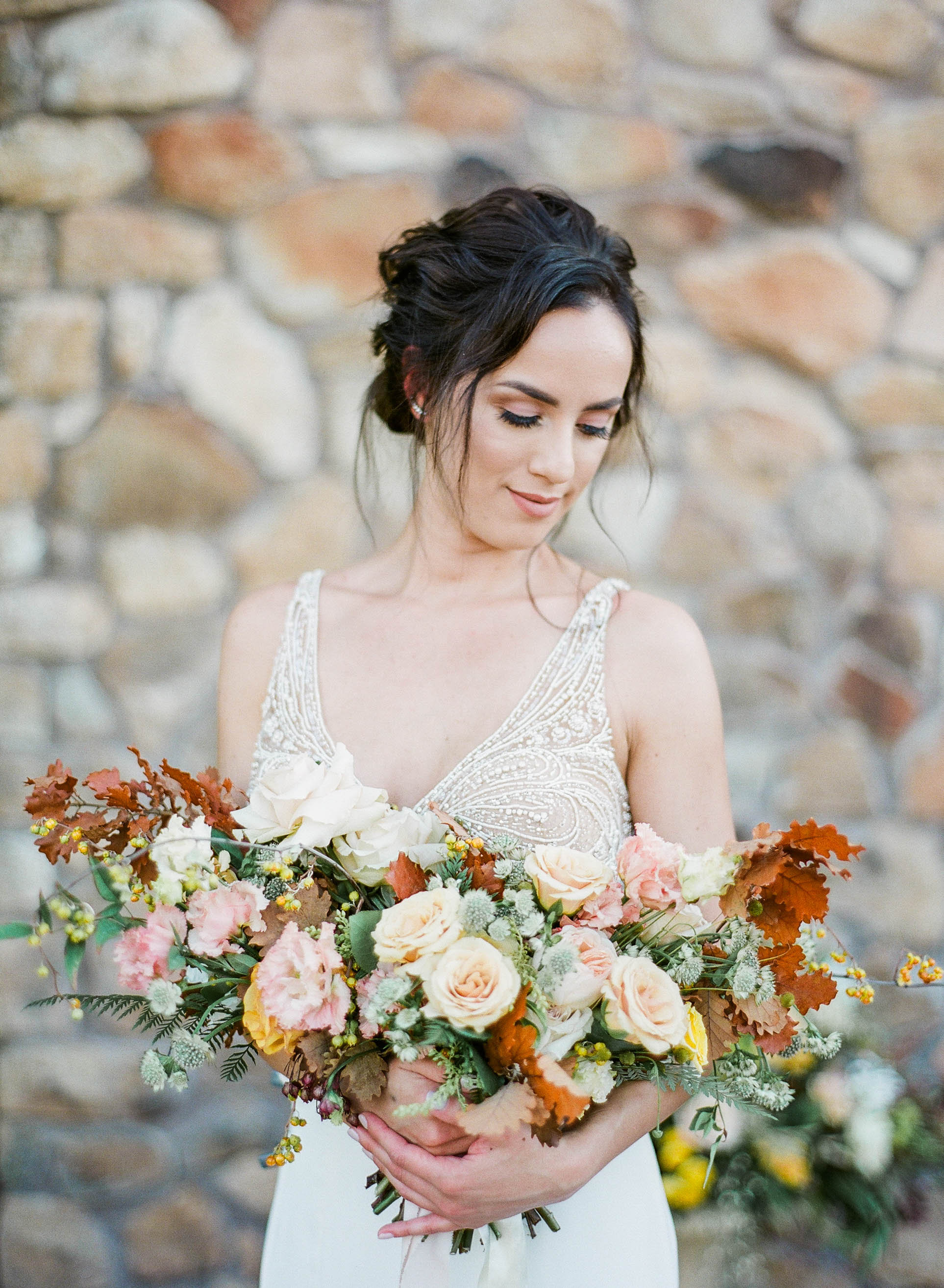 Fall Wedding | Fall Wedding Inspiration | Fall Bridal Bouquet | Yellow and Brown wedding | Ashley Nystrom | Wedding Blog | Fine Art Wedding Blog | Canadian Wedding Blog | Wedding Inspiration | Joy Wed