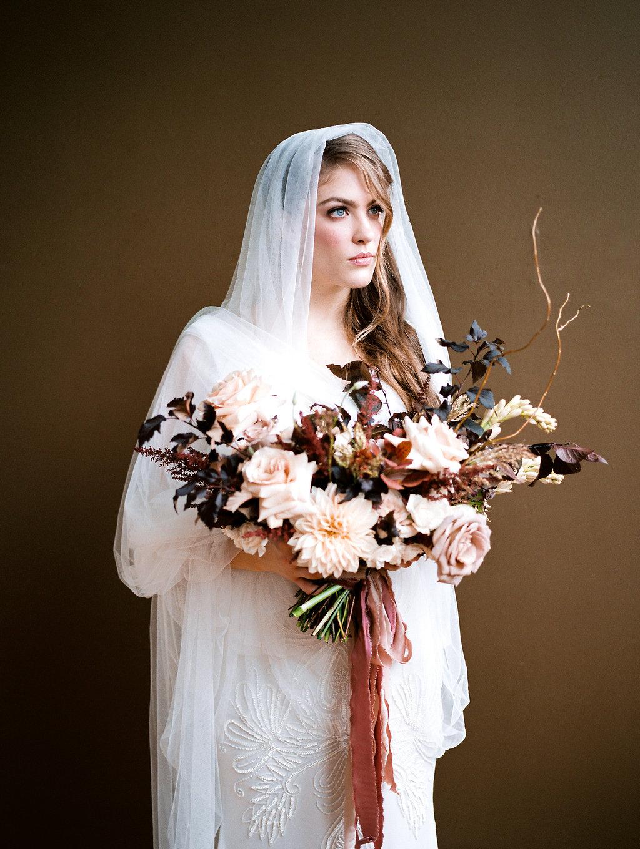 Moody Victorian Wedding Inspiration | When She Knew Photography | Brown and Beige Wedding | Fine Art Wedding | Joy Wed