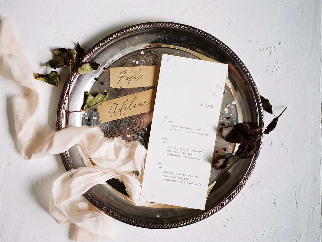 Moody Victorian Wedding Inspiration | When She Knew Photography | Brown and Beige Wedding | Fine Art Wedding | Joy Wed | Wedding Calligraphy