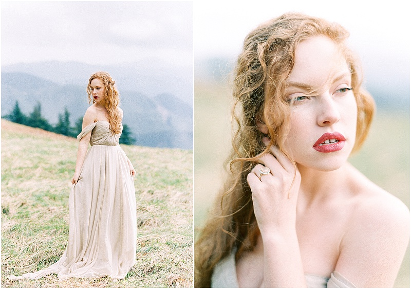 Mountain Wedding | Rainy Wedding Inspiration | Sweetlife Photography | Sarah Seven | Joy Wed | Fine Art Wedding Blog | Canadian Wedding Blog | Stacey Foley Design