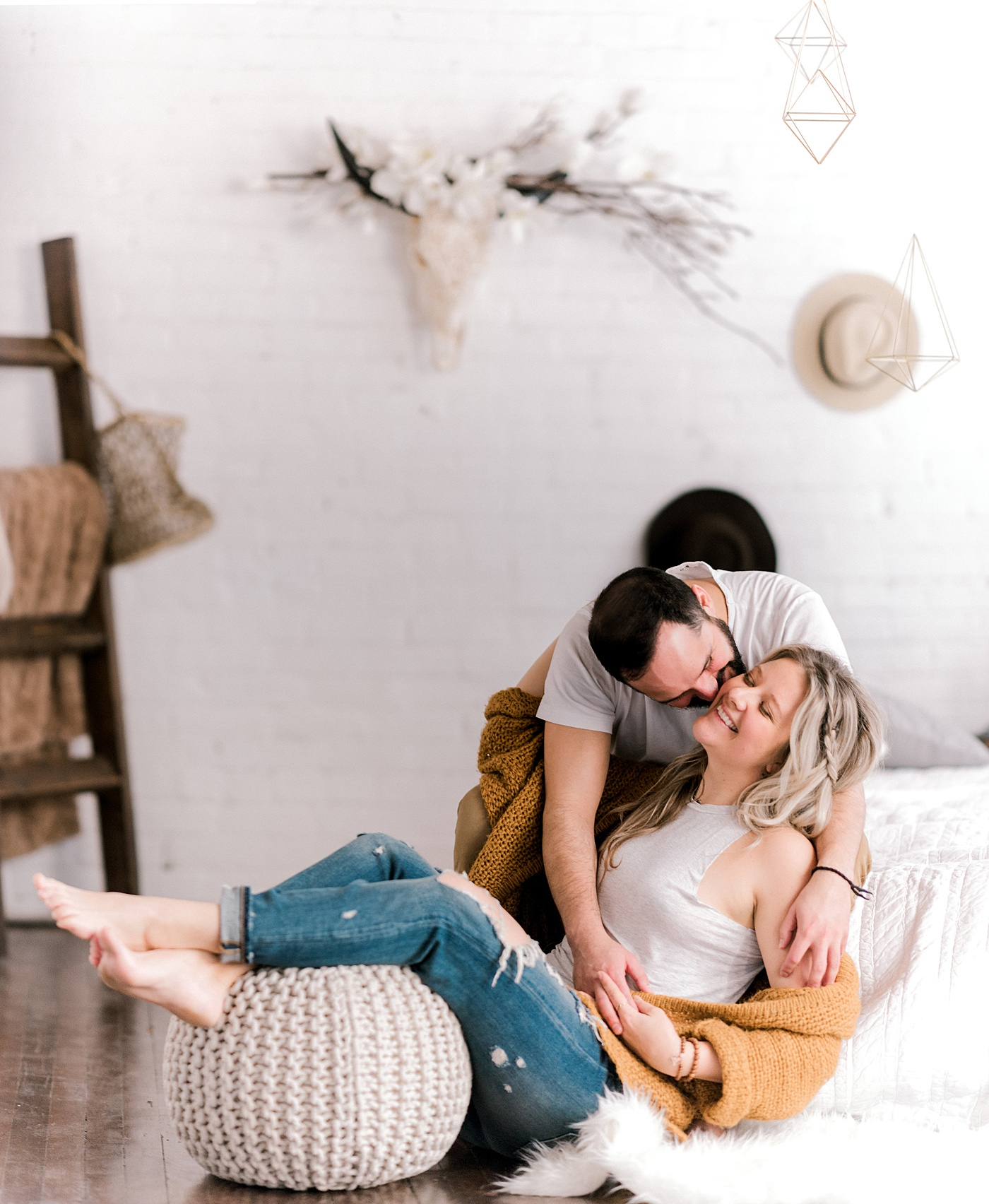 Bohemian In-Home Engagement | Barbara Rahal Photography | Edmonton Wedding Photographer | Joy Wed | Canadian Wedding Blog | Canmore Wedding Planner | Stacey Foley Design