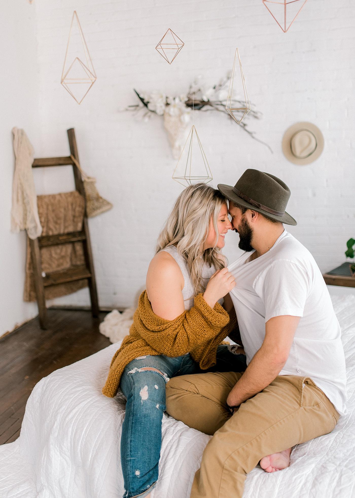 Bohemian In-Home Engagement | Barbara Rahal Photography | Edmonton Wedding Photographer | Joy Wed | Canadian Wedding Blog | Canmore Wedding Planner | Stacey Foley Design